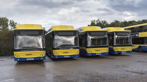 (063) Bus - Anglian - Man EcoCity - WX62 HHF, WX62 HHP, AU62 DWL, & AU62 DWG - Beccles