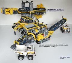 LEGO 42055 Bucket Wheel Excavator (KatanaZ) Tags: lego42055 bucketwheelexcavator lego42055b mobileaggregateprocessingplant lego technic alternatedesign