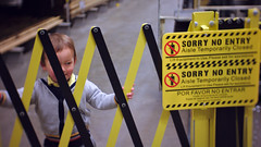 Sorry no entry (Scott SM) Tags: gate barrier closed no entry play lowes store two year old toddler 2