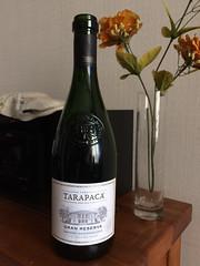 "Santiago:  un bon vin rouge chilien. <a style=""margin-left:10px; font-size:0.8em;"" href=""http://www.flickr.com/photos/127723101@N04/30222566271/"" target=""_blank"">@flickr</a>"