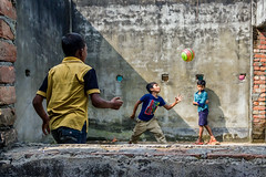 Play Ground - II (_MaK_) Tags: street kid play candid color people fun joyness line bangladesh