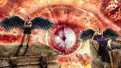 Wings of self-confidence (Ukelens) Tags: ukelens schweiz swiss switzerland bern wyleregg composing manipulation fantasy female frau flgel wings photoshop lightroom