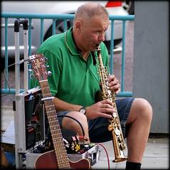 Busking (* RICHARD M (Over 5 million views)) Tags: clarinet busker busking musician musicmaker street candid southport sefton merseyside performer performance entertainer entertainment streetentertainer streetperformer