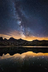 Milky Way Reflection (jpmiss) Tags: night landscape milkyway etoiles alps stars lake nuit alpes lac paysage jpmiss allos 6d mercantour canon paca voielacte lacdallos nature voielacte provencealpesctedazur france fr samyang 24mm