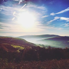 Early morning 'View of the Valley' (Bluebirdjoe) Tags: valley hills mountains clouds bluesky morning wales rhonddavalley