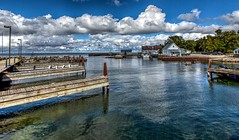 Gill's Rock (Don3rdSE) Tags: don3rdse 3rdsiblingphotography canon canon5d 5d eos september 2016 wi wisconsin doorcounty trip vacation sturgeonbay scenic water peninsula waterscape tourist gillsrock clouds harbor dock pier boats