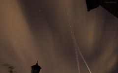 Night trails (RIS'n'RAS) Tags: star night cloud trail aircraft stars trails longexposure long exposure sky