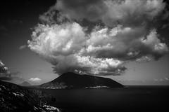 PA024206 Sicily Italy Lipari views to Vulcano Island (Dave Curtis) Tags: 2013 em5 europe omd olympus sicily italy lipari vulcano volcano spectacular cloud
