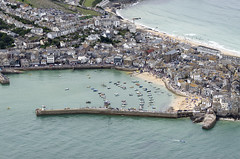St Ives aerial (John D F) Tags: cornwall aerial stives aerialphotography aerialimage aerialphotograph aerialimagesuk aerialview coast harbour harbor