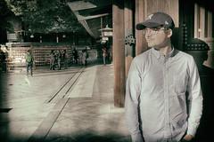 Japan - Tokyo - Meji Shrine (st3000) Tags: asia nippon japan tokyo harajuku meijishrine meiji memyselfandi selfi cap baseballcap hat lightroom shirt
