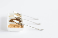 301/366: And all things nice (judi may - more off than on) Tags: 366the2016edition 3662016 day301366 27oct16 october2016amonthin31pictures sugarandspice spoons dish highkey white whitebackground canon7d 50mm stilllife food spice foodstyling dof depthoffield bokeh