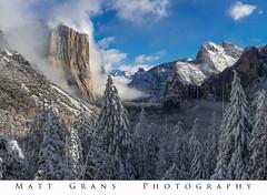 Whoville (Matt Grans Photography) Tags: snow yosemite elcapitan trees bluesky california winter