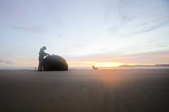 (Bronte Lockwood) Tags: tea sunrise moeraki boulders outdoor rock dolphins flare booked nikon new zealand beach sky green orange sand pure nature beautiful love life travel road trip hippie camping