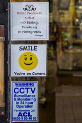 No Photographs - But We Can Film You! (Stewart Black) Tags: hypocrisy chepstow shop prejudice weird