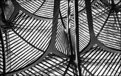X4 Marks the Spot (ammozug) Tags: bw monochrome abstract architecture lines curves reflection metal glass brookfieldplace toronto