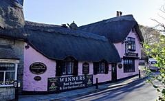 Tea Room... (MickyFlick) Tags: thatchedbuilding oldthatchteashop tearoom shanklin isleofwight iow england uk pink thatched oldvillage shanklinoldvillage shanklinoldtown