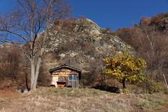 la capite  Dany (bulbocode909) Tags: valais suisse isrables capitedany cabanes arbres nature montagnes automne paysages bleu
