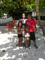 Betio is a village that is extremely over populated, with that pollution comes as a result. Here is at the beach were they still have s bit room.