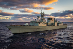 HMCS ST. JOHN'S at Sea During SPARTAN WARRIOR (Royal Canadian Navy / Marine royale canadienne) Tags: dayjour navymarine outdoorsextãrieur shipsnavires watereau hmcs st johns at sea frigate royal canadian navy clouds sky