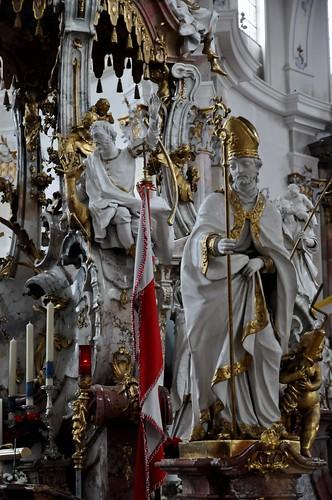 Staffelstein (Alemania). Basilica Vierzehnheiligen. Templete de los 14 Santos. San Blas y San Gil