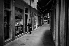 melancholic (Silvio Naef) Tags: leica m6 summicron 35mm ilford delta 400 venezia italy old alone melacholic monochrome