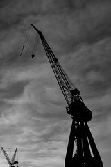 """Standing tall and proud"" (Terje Helberg Photography) Tags: bw blackandwhite bnw cloud clouds cloudscape coast coastal coastalenvironement crane cranes hook industry monochrome silhouette silhouettes sky skyscape wire wires hordaland bergen laksevg samsung nx30 nx"