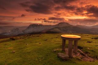 Orientation table in the Saibigain mountain