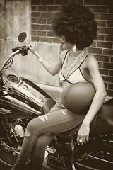 164/366 (yewandeblue) Tags: 366project alexandria bighair biker blackwoman chic chrome davidson girl halter harley hells helmet jeans mortorcycle motorbike naturalhair platform pumps ride shoes stylized vintage virginiawarmemorial woman