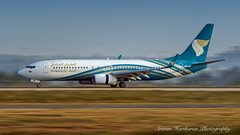 A4O-BF Oman Air Boeing 737-8FZ(WL) - cn 29637 / 3051 (Sri_AT72 (Sriram Hariharan Photography)) Tags: oman air airways airlines airplane flight wy oma 281 blr vobl bengaluru international airport bia kia kempegowda plane spotting aviation photography passion airside november 2016 avgeek geek