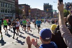 Cheers (kzoop) Tags: nyc newyork newyorkcity brooklyn marathon running runners nycmarathon