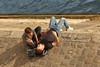 Quai d'Orléans - Paris (France) (Meteorry) Tags: europe france idf îledefrance paris parispeople candid street rue streetscene îlesaintlouis île island river fleuve quaidorléans quai rive shore people men guys male smoking fumer fumeurs smokers seine young twinks students étudiants sneakers baskets trainers skets nikeairmax90 airmax90 amour amitié gay couple september 2016 meteorry