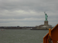 Statue of Liberty as seen whilst Sailing on the Staten Iisland Ferry New York November 2016   (4) (Richie Wisbey) Tags: staten island ferry new york free service gratis statue liberty ellis governors bowling green verazano straits bridge hudson river east bay manhattan skyline big boat richard richie wisbey flickr explore exploring usa