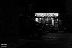 Ikaros (Denis Hbert) Tags: denishbert anthropogeo faubourgmlasse centresud montreal montral qubec quebec canada 2015 monochrome montrealnight montrealcentresudnight montrealfaubourgmlassenight ngc noiretblanc nuitcentresud nuitmontreal nuitfaubourgmlasse nuit night bw blackandwhite blackwhite black city calme extrieur automne avenuemarchand steet shadowy shadows shadow fullum fall dark darkandlight ombrage ombre sombre urban urbain rue ville tranquilit sign ikaros quiet