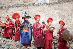 Monks performing a purification ritual. (Leonid Plotkin) Tags: asia buddhism buddhist celebration cham dance dancing festival india ladakh lamayuru religion ritual tsam