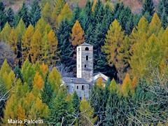 Italy: Ossuccio (Como): San Benedetto abbey (mariofalcetti) Tags: italia italy ossuccio abbazia abbey wood bosco alberi tree foglie leaves autunno autumn