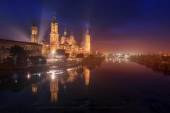 Zaragoza, El Pilar (sgsierra) Tags: zaragoza pilar iglesia nocturna noche night luz color ciudad city spain aragón españa