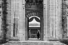 Layer upon layer / Almost symmetrical (Özgür Gürgey) Tags: 2016 50mm bw d750 nikon architecture lines street symmetry istanbul şehzadecamii turkey