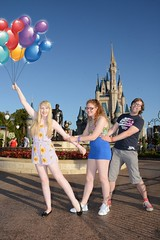 Magic Kingdom (Elysia in Wonderland) Tags: disney world orlando florida elysia holiday 2016 magic kingdom cinderella cinderellas castle lucy pete mickey balloons flying shot