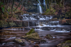 Falls (Lee~Harris) Tags: waterfall water watercourse longexposure trees leaves rugged uk pennines beautiful colours fz1000 rocks flowing flowingwater gibsoncave nature landscape outdoor love natural passion creek stream