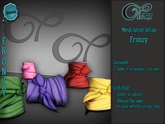 "Mesh Wrist Wrap ""Fronzy"" V#2 Color (..:: OPOPOP Design ::..) Tags: opopop hud colors cam bandana unisex bracelet secondlife wrist wrapped"