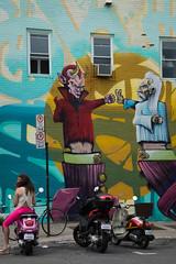 MTL-58.jpg (HLM Pictures) Tags: canada mtl montréal québec ange angel démon graffiti mur pink rose scooter streetart streetartmtl summer wall été