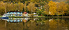 Reflections along the Elbe River (Bob C Images) Tags: reflections cycling camp river water fall foliage color autumn czech usti boats building landscapes europe travel sonyberlinetopoland