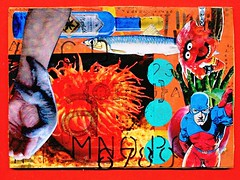 181365 Alphabet Challenge - A (Snooky & Angie) Tags: atc artisttradingcard collage postcard mailart