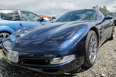 Corvette (xwattez) Tags: auto france chevrolet car automobile voiture chevy american transports corvette 31 coup 2014 rtro vhicule amricaine beauzelle boursedchange