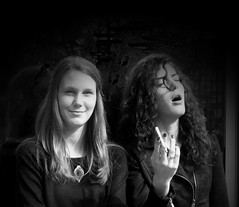 Emotions (Sappho et amicae) Tags: life bw portraits friendship emotions eljkagavrilovi