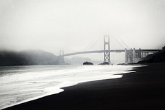 so felt in solitude (1crzqbn) Tags: red seascape fog textures goldengatebridge 7d figure bakerbeachsf 1crzqbn sofeltinsolitude