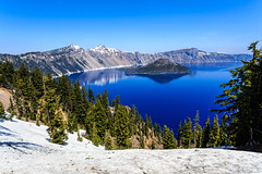 Crater Lake - 127 (www.bazpics.com) Tags: park trip morning blue summer sun mist lake color colour water beautiful june oregon landscape island volcano amazing haze scenery mt unitedstates nps wizard or centre scenic sunny visit clear mount national crater caldera service craterlake rim visitor mazama 2014 supervolcano barryoneilphotography