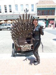 Catwoman and Game of Thrones - SDCC 2013 (Cutterin) Tags: dc cosplay adamhughes catwoman gameofthrones sdcc2013 sandiegocomiccon2013 cutterin