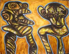 DSC00410 (totem3xperu) Tags: art peru cuzco raw jcb arte mask outsider magic paintings surreal ritual nazca paracas brut totem3x castillabambaren totem3xperu