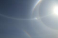Halo _2014_06_24_0014 (FarmerJohnn) Tags: morning blue light sky sun sunlight reflection colors june canon finland rainbow frost bright halo bluesky 7d kes valo laukaa aurinko sininen heijastus keskuu taivas aamu auringonvalo jkiteet valkola threesuns canoneos7d canonef163528liiusm frostintheair haloilmi anttospohja juhanianttonen kolmeaurinkoa jkiteitilmassa